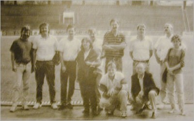 Unsere Delegation im Dinamostadion, Tiflis